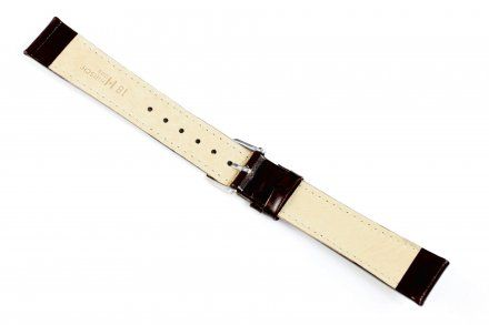 Brązowy pasek skórzany 20 mm HIRSCH Osiris 03475010-2-20 (L)