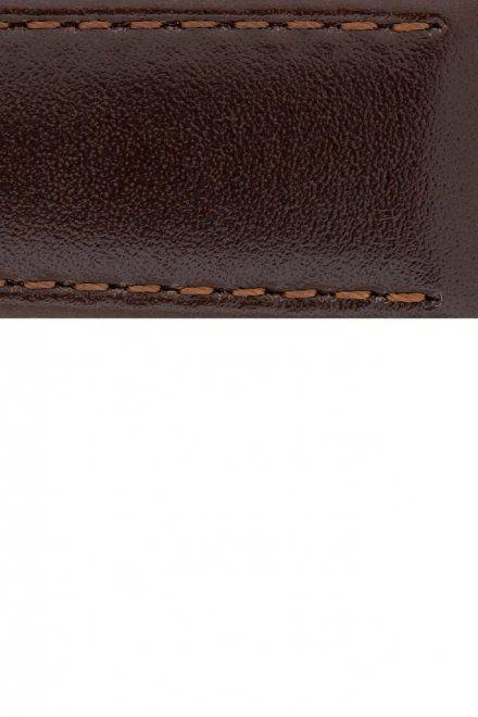 Brązowy pasek skórzany 24 mm HIRSCH Osiris 03475010-2-24 (L)