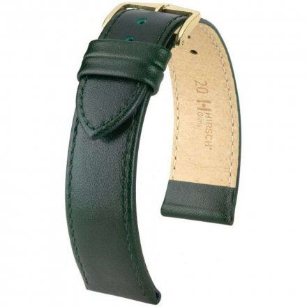 Zielony pasek skórzany 20 mm HIRSCH Osiris 03475040-1-20 (L)