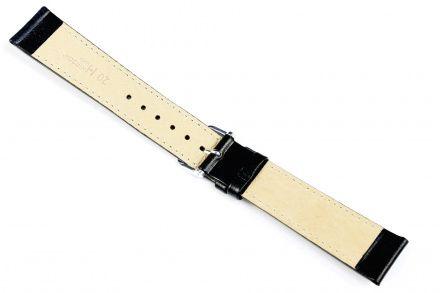 Czarny pasek skórzany 21 mm HIRSCH Osiris 03475050-1-21 (L)