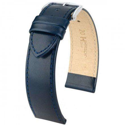 Niebieski pasek skórzany 20 mm HIRSCH Osiris 03475080-2-20 (L)