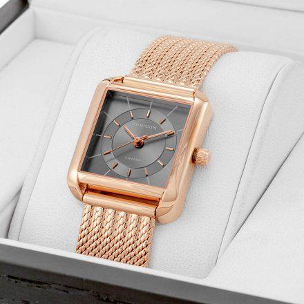 Zegarek damski Rubicon różowozłoty z bransoletą RNBE34RIVX03BX