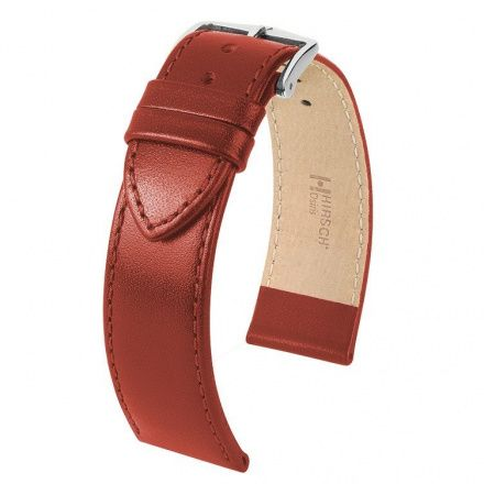 Czerwony pasek skórzany 20 mm HIRSCH Osiris 03475120-2-20 (M)