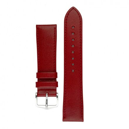 Czerwony pasek skórzany 12 mm HIRSCH Osiris 03475120-1-12 (M)