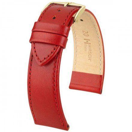 Czerwony pasek skórzany 14 mm HIRSCH Osiris 03475120-1-14 (M)