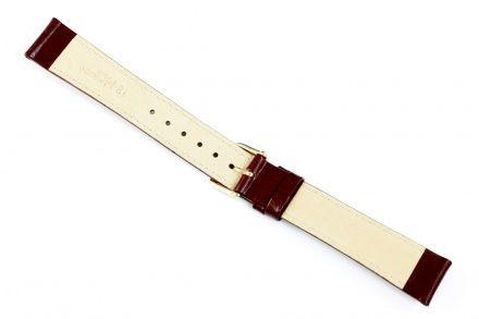 Bordowy pasek skórzany 16 mm HIRSCH Osiris 03475160-1-16 (M)