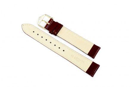 Bordowy pasek skórzany 18 mm HIRSCH Osiris 03475160-1-18 (M)