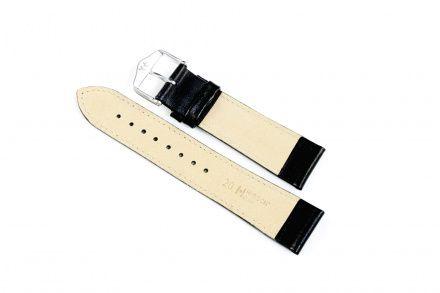 Czarny pasek skórzany 18 mm HIRSCH Osiris 03475250-2-18 (XL)