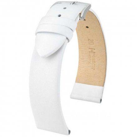 Biały pasek skórzany 16 mm HIRSCH Toronto 03702000-2-16 (L)