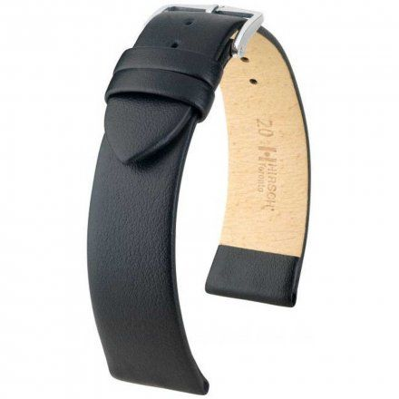 Czarny pasek skórzany 16 mm HIRSCH Toronto 03702050-2-16 (L)