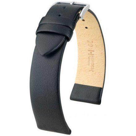 Czarny pasek skórzany 28 mm HIRSCH Toronto 03702050-2-28 (L)