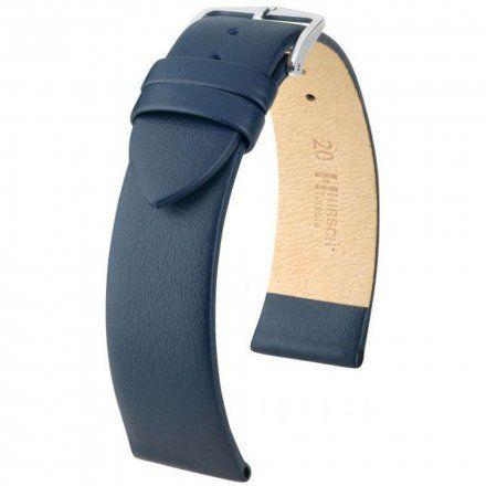 Niebieski pasek skórzany 16 mm HIRSCH Toronto 03702080-2-16 (L)