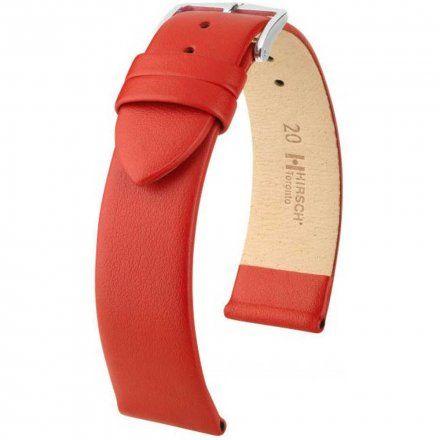 Czerwony pasek skórzany 20 mm HIRSCH Toronto 03702120-2-20 (M)