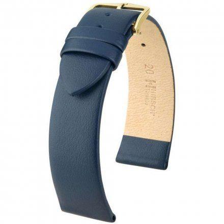 Niebieski pasek skórzany 14 mm HIRSCH Toronto 03702180-1-14 (M)
