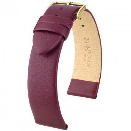 Fioletowy pasek skórzany 12 mm HIRSCH Toronto 03702186-1-12 (M)