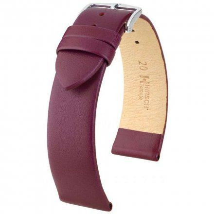Fioletowy pasek skórzany 20 mm HIRSCH Toronto 03702186-2-20 (M)