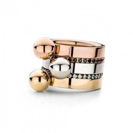 Pierścionek Melano Twisted Tatum M01R Różowe złoto