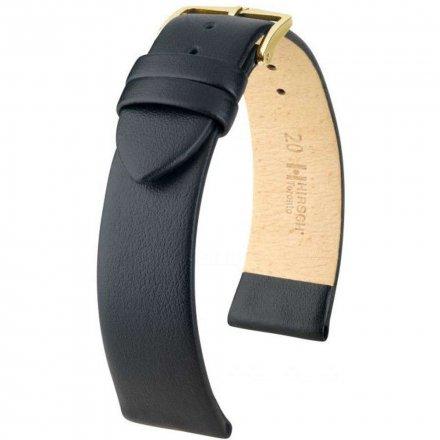 Czarny pasek skórzany 16 mm HIRSCH Toronto 03702250-1-16 (XL)