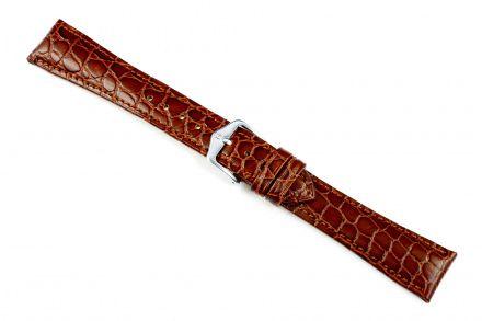Brązowy pasek skórzany 18 mm HIRSCH Aristocrat 03828010-2-18 (L)