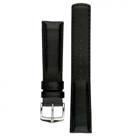 Czarny pasek skórzany 22 mm HIRSCH Runner 04002050-2-22 (L)