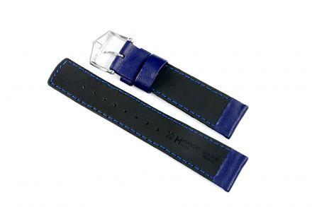 Niebieski pasek skórzany 18 mm HIRSCH Runner 04002080-2-18 (L)