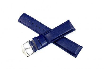 Niebieski pasek skórzany 24 mm HIRSCH Runner 04002080-2-24 (L)