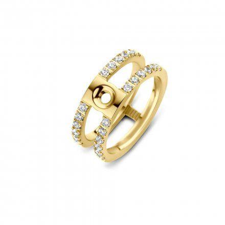Pierścionek Melano Twisted Trista Crystal TR22 Złoty