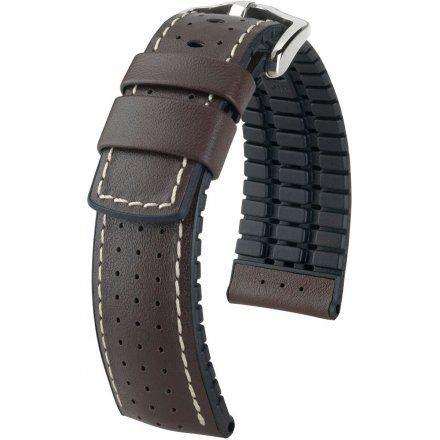 Brązowo-czarny pasek skórzany 24 mm HIRSCH Tiger 0915075010-2-24 (L)