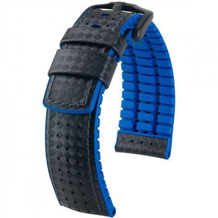 Czarno-niebieski pasek skórzany 20 mm HIRSCH Ayrton 0918092050-5-20 (L)