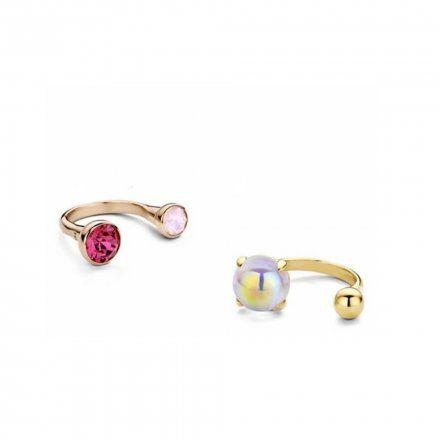 Pierścionek Melano Twisted Open Ring TR14 Różowe złoto