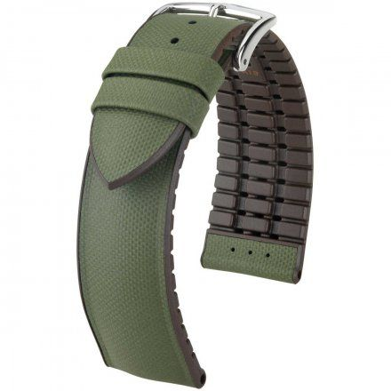 Zielono-brązowy pasek  skórzany 22 mm HIRSCH Arne 0921094040-2-22 (L)