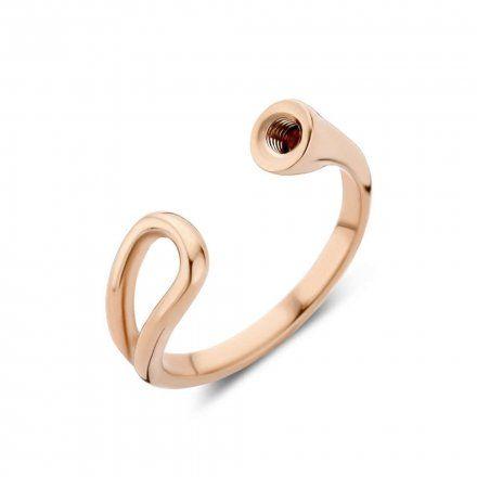 Pierścionek Melano Twisted Open Loop TR18 Różowe złoto