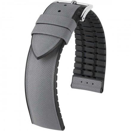 Szaro-czarny pasek skórzany 18 mm HIRSCH Arne 0925094030-2-18 (L)