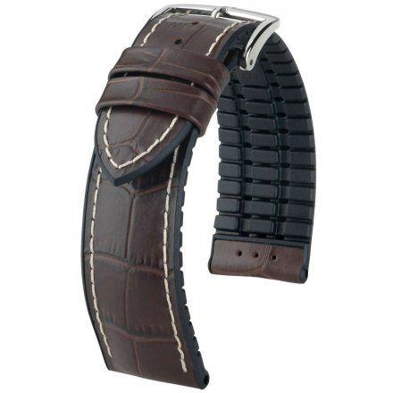 Brązowo-czarny pasek skórzany 24 mm HIRSCH George 0925128010-2-24 (L)