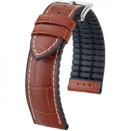 Jasnobrązowo-czarny pasek skórzany 20 mm HIRSCH George 0925128070-2-20 (L)
