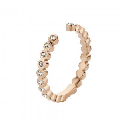 Pierścionek Melano Twisted Tina Crystal M01R Różowe złoto