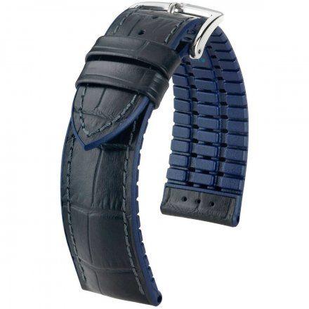 Czarno-niebieski pasek skórzany 24 mm HIRSCH Andy 0928028050-2-24 (L)