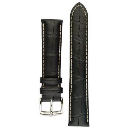 Czarny pasek skórzany 22 mm HIRSCH Modena 10302850-2-22 (L)
