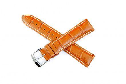 Miodowo-brązowy pasek skórzany 22  mm HIRSCH Modena 10302875-2-22 (L)