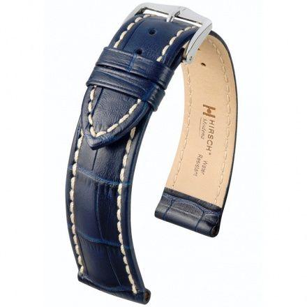 Niebieski pasek skórzany 22 mm HIRSCH Modena 10302880-2-22 (L)