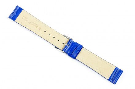 Błękitny pasek skórzany 22 mm HIRSCH Modena 10302885-2-22 (L)