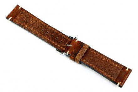 Brązowy pasek skórzany 20 mm HIRSCH Liberty 10920210-2-20 (XL)