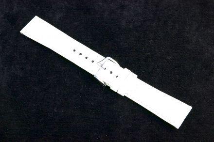 Biały pasek skórzany 12 mm HIRSCH Crocograin 12302800-1-12 (M)