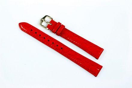 Czerwony pasek skórzany 12 mm HIRSCH Crocograin 12302820-1-12 (M)