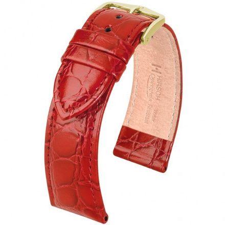 Czerwony pasek skórzany 18 mm HIRSCH Crocograin 12302820-1-18 (M)