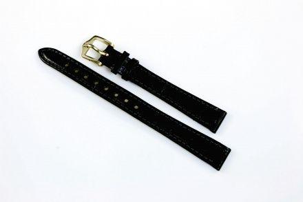 Czarny pasek skórzany 13 mm HIRSCH Crocograin 12302850-1-13 (M)