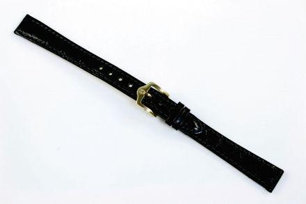 Czarny pasek skórzany 19 mm HIRSCH Crocograin 12302850-1-19 (M)