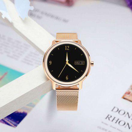 Różowozłoty smartwatch damski Rubicon RNBE66RIBX05AX