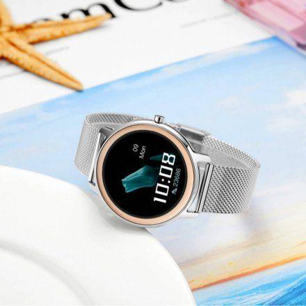 Srebrny smartwatch damski Rubicon RNBE66SIBX05AX