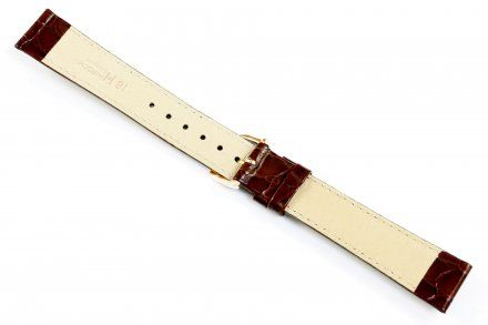 Brązowy pasek skórzany 17 mm HIRSCH Crocograin 12322810-1-17 (L)